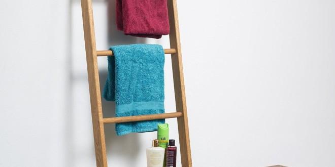 Handtuchleiter Eiche handtuchleiter kleiderleiter handtuchhalter kaufen de