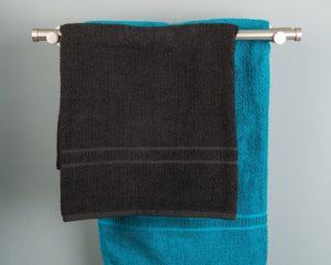 Handtuchhalter 80 cm - Doppelte Handtuchstangen Ø 20 mm, Länge: 80 cm, gebürsteter Edelstahl – komplett