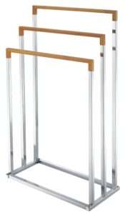 Handtuchhalter Holz - Zeller 18611 Handtuchständer Bamboo/Chrom