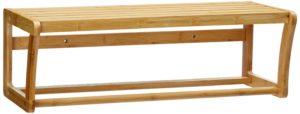Handtuchhalter Holz, Relaxdays 10014070 Badregal Bambus mit Ablage und Handtuchhalter 60 cm