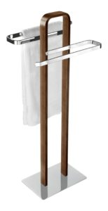 Handtuchhalter Holz - WENKO 18559100 Handtuchständer Tallone mit 2 Armen - Kleiderständer